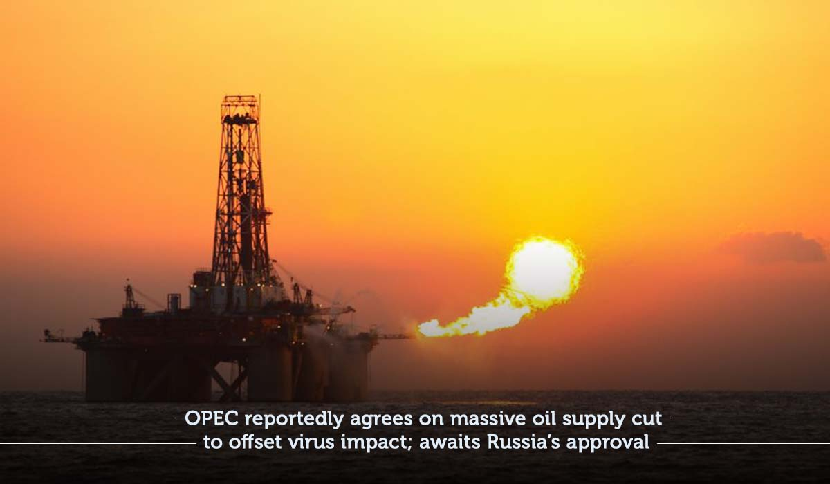OPEC predicted to push for long oil production cut as coronavirus hits demand; Russia haven't decided yet