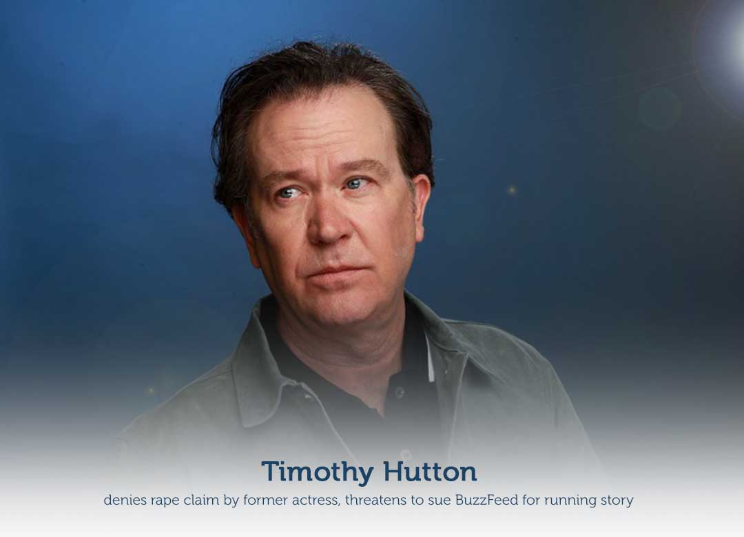 Timothy Hutton opposes rape claim by a former female actress
