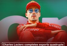 Charles Leclerc,popular racer, greatly ended esports quadruple