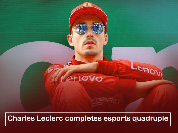 Charles Leclerc,popular racer, greatly ended esports quadruple