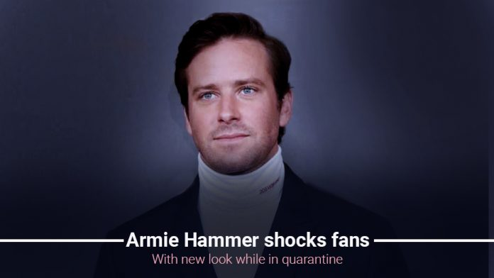 Armie Hammer astounds fans with a emerging look while staying at home