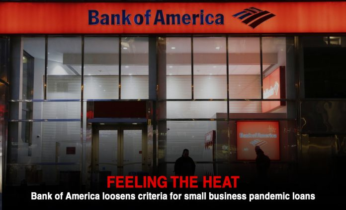 BofA relaxes criteria for small business pandemic loan