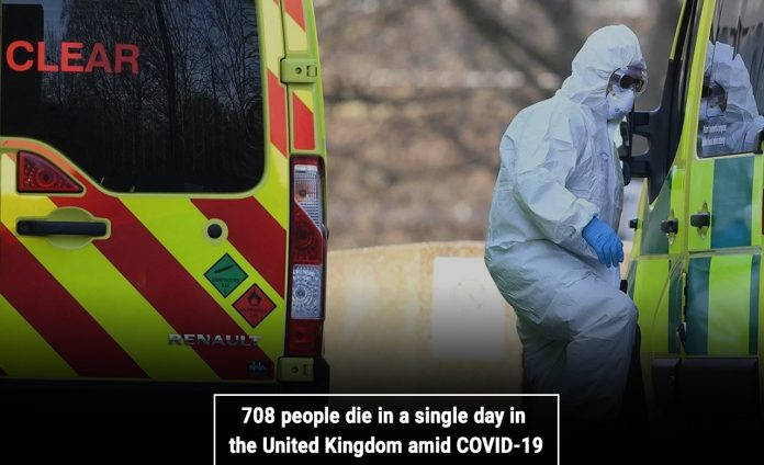 708 people die in a single day in the United Kingdom amid COVID-19