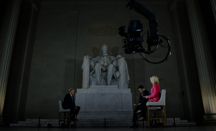 Interior secretary loosened rules so President could contain Fox News interview at Lincoln Memorial