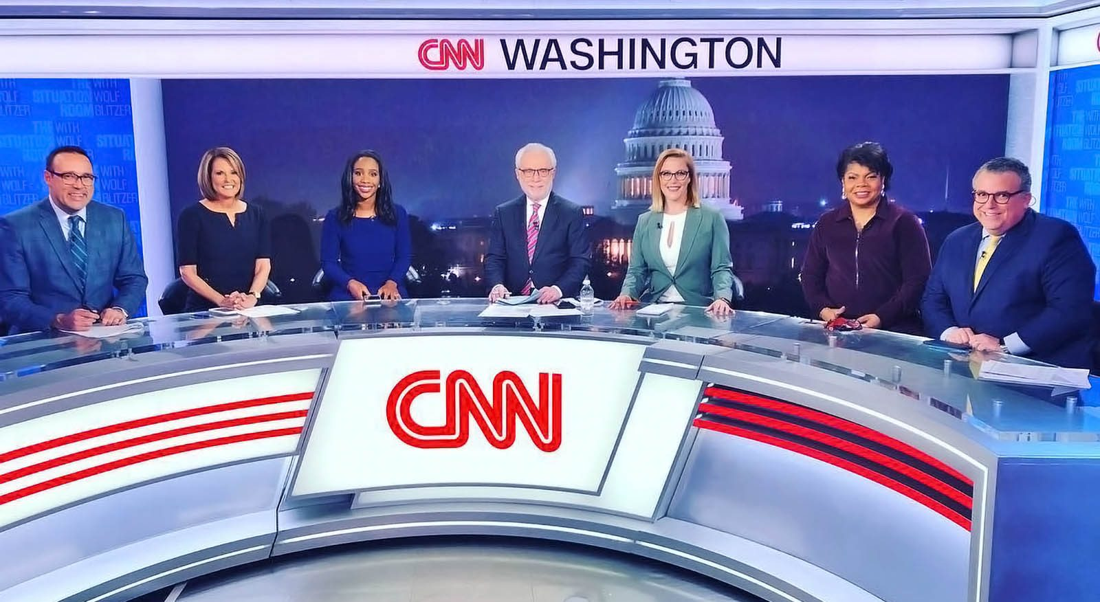 CNN Washington newscasters