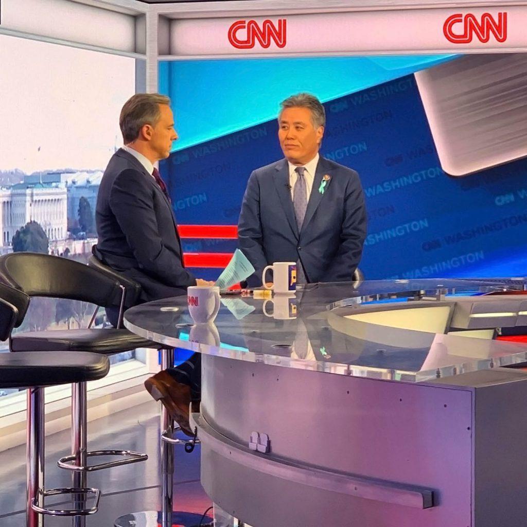 CNN interview set