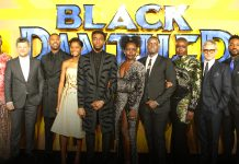 A private memorial conducted by Bosemna's wife with 'Black Panther' stars