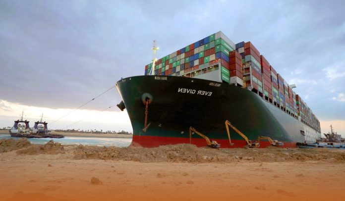 The global shipping largely affected by the Suez blockage