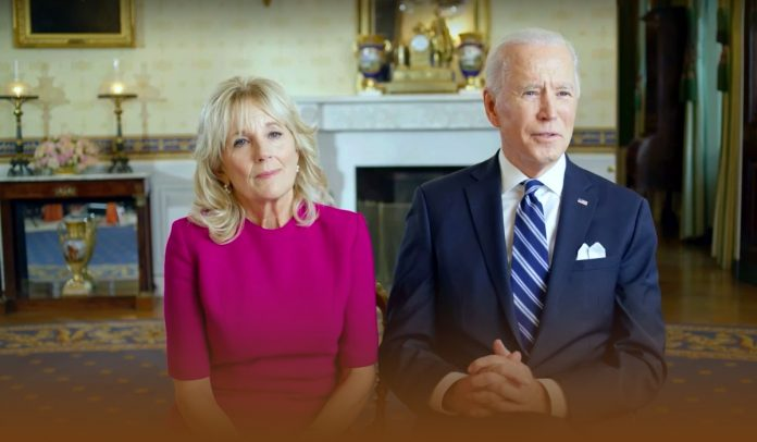 President with the first lady emphasized people to get vaccinated
