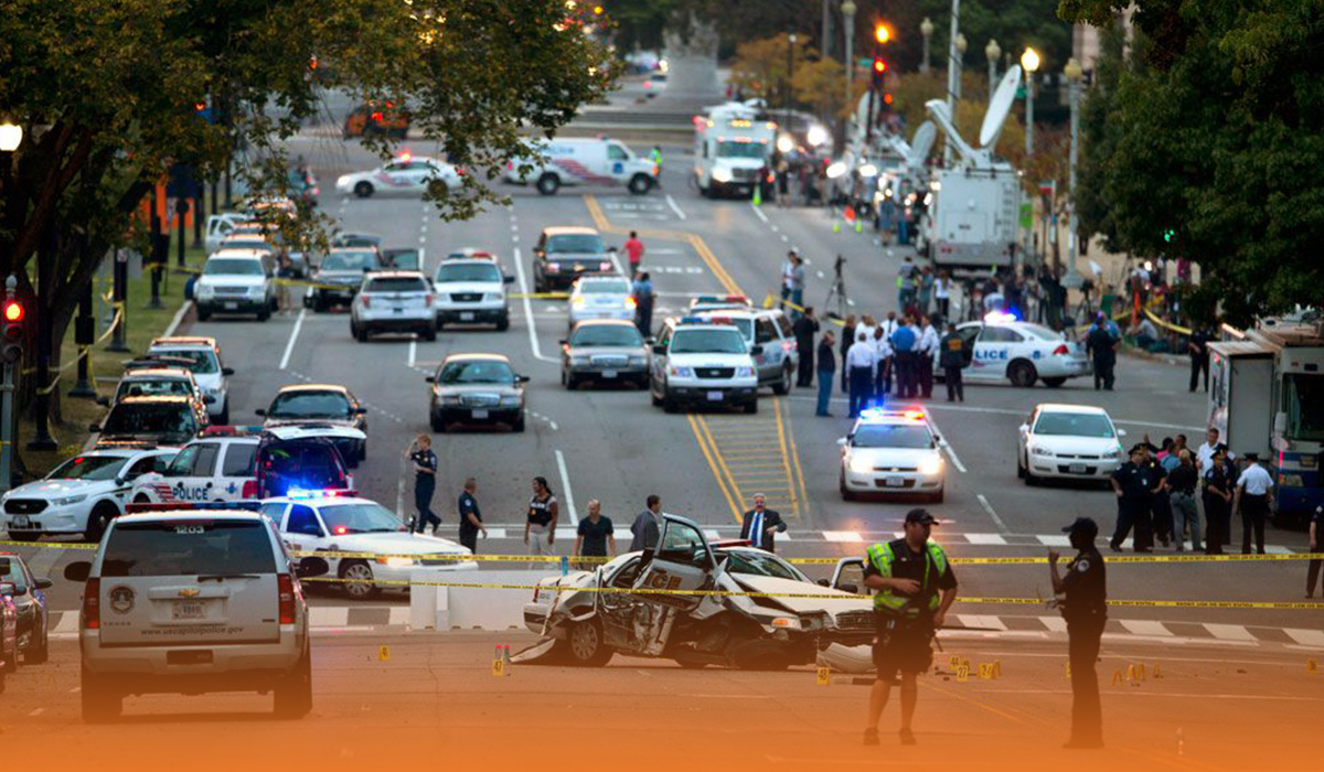 A car hit at the checkpoint that left a Capitol Police officer killed