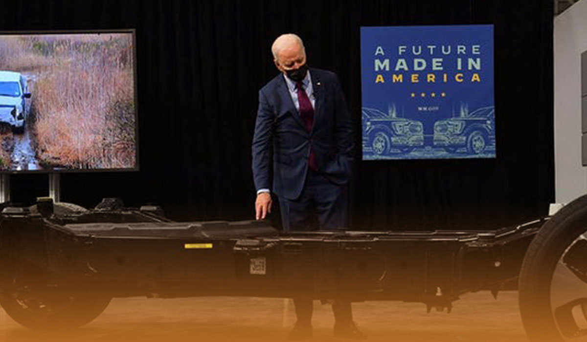 Electric Ford F-150 Lightning launched early at Joe Biden event