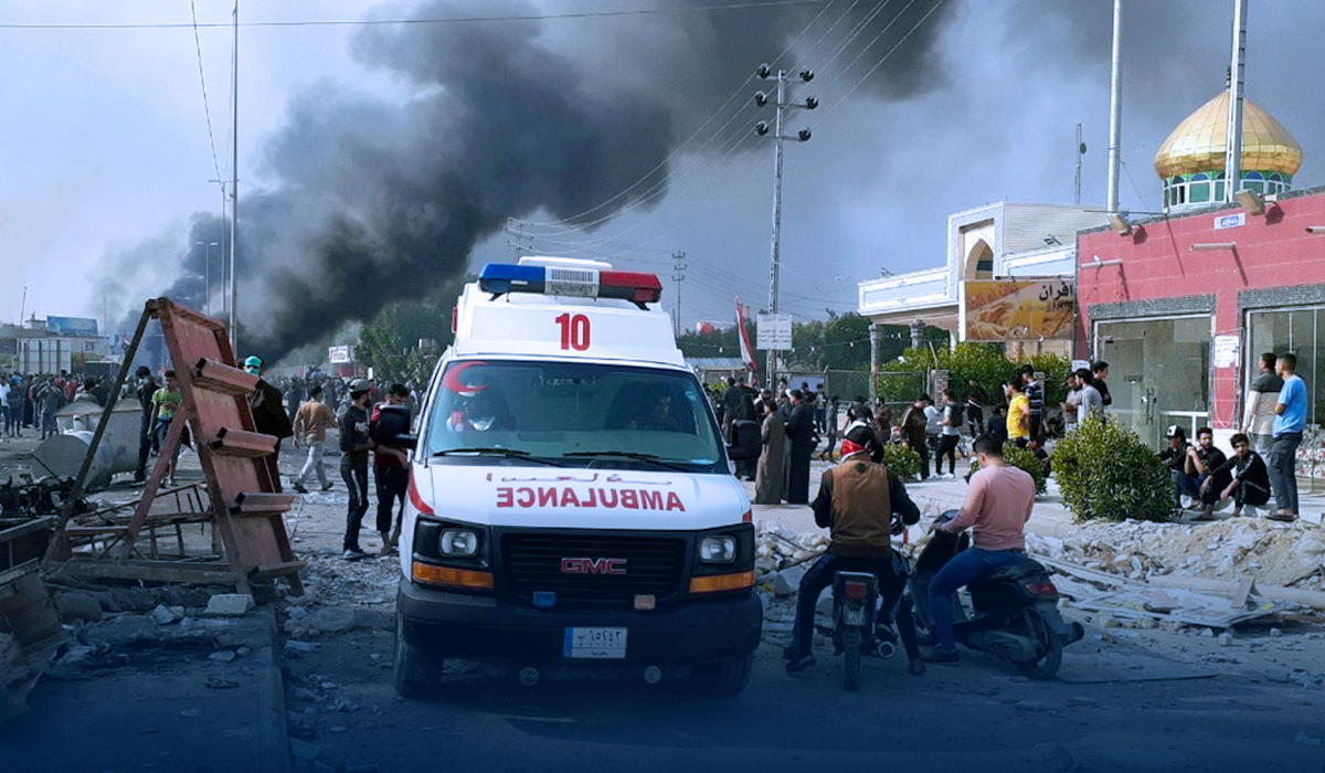 Death Numbers Reached 92 in Fire at COVID Ward in Iraq