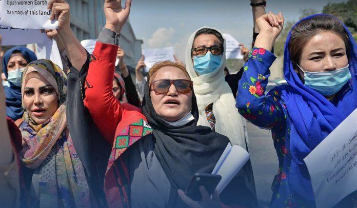 Women Held Demonstration in Taliban-ruled Kabul
