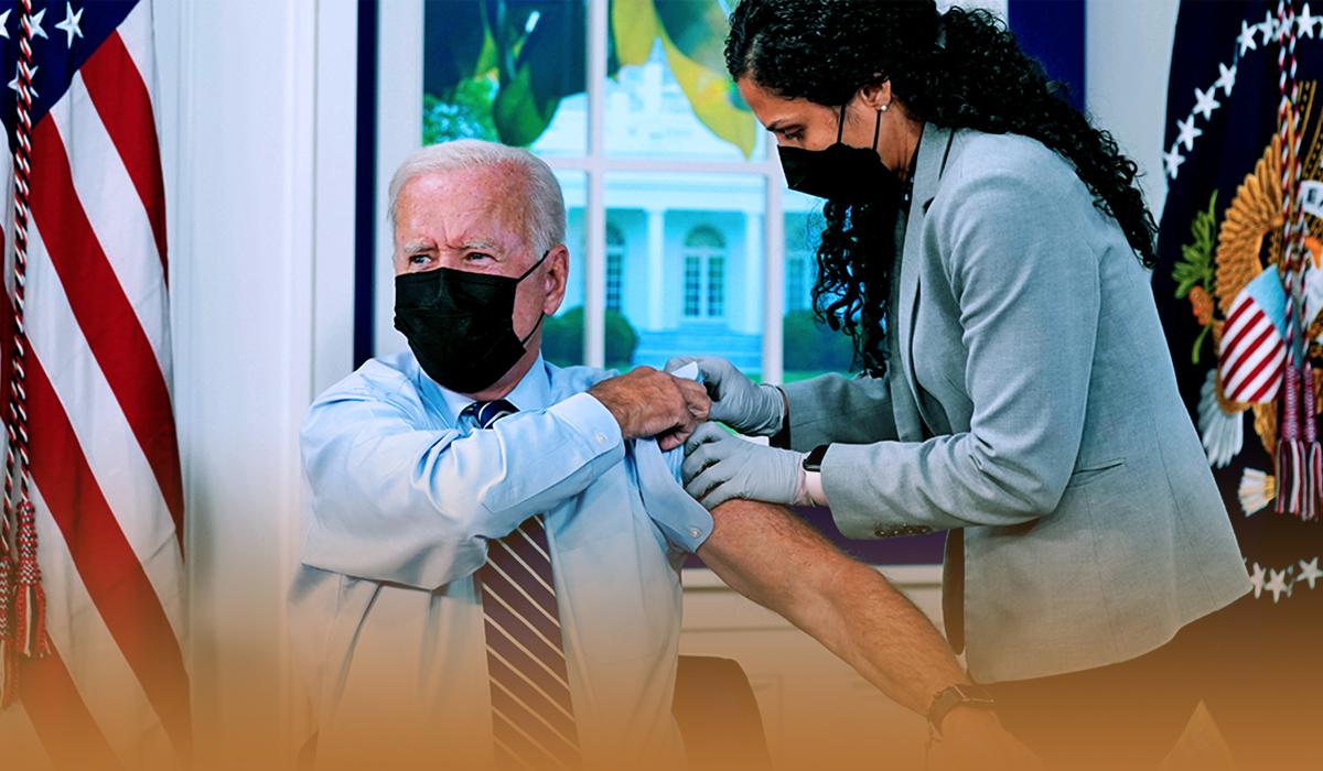 American President Took Coronavirus Vaccine Booster Shot